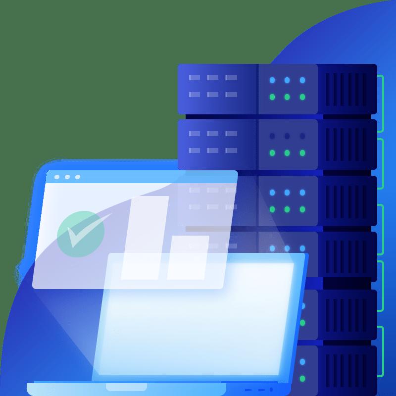 1X Hosting Illustration 01 web hosting Pages