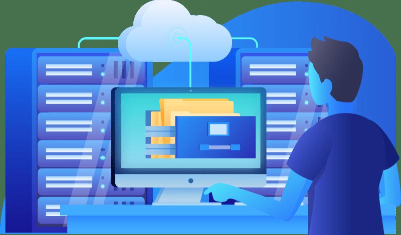 1X Hosting Illustration 02 web hosting Pages